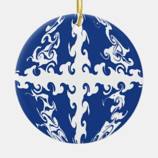 Gnarly Flagge Martiniques Rundes Keramik Ornament