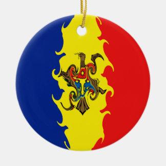 Gnarly Flagge Moldau Rundes Keramik Ornament