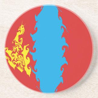 Gnarly Flagge Mongolei Untersetzer
