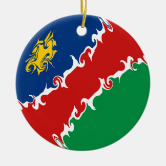 Gnarly Flagge Namibias Rundes Keramik Ornament