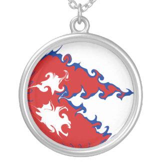 Gnarly Flagge Nepals Halskette Mit Rundem Anhänger