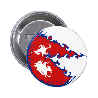 Gnarly Flagge Nepals Runder Button 5,7 Cm