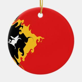 Gnarly Flagge Osttimor Rundes Keramik Ornament