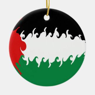 Gnarly Flagge Palästinas Weihnachtsornament