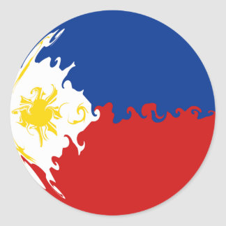 Gnarly Flagge Philippinen Runder Aufkleber