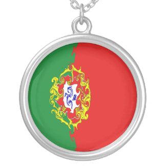 Gnarly Flagge Portugals Halskette Mit Rundem Anhänger