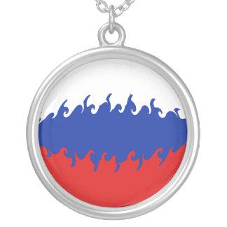 Gnarly Flagge Russlands Halskette Mit Rundem Anhänger