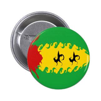 Gnarly Flagge Sao Tome und Principe Button