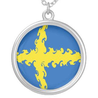 Gnarly Flagge Schwedens Halsketten