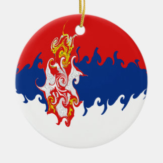 Gnarly Flagge Serbiens Weihnachtsornament