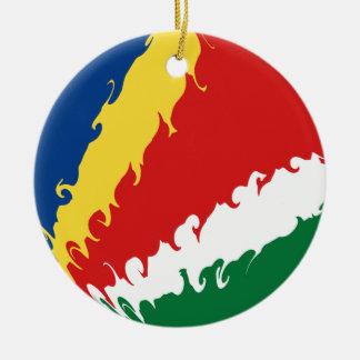Gnarly Flagge Seychellen Ornamente