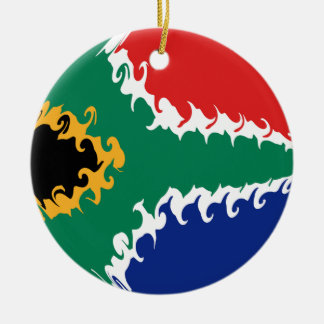 Gnarly Flagge Südafrikas Rundes Keramik Ornament