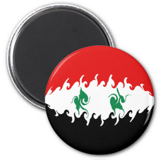 Gnarly Flagge Syriens Kühlschrankmagnete