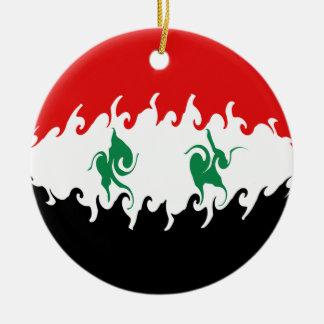 Gnarly Flagge Syriens Rundes Keramik Ornament