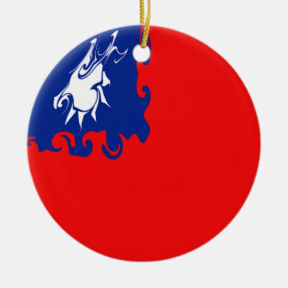 Gnarly Flagge Taiwans Rundes Keramik Ornament