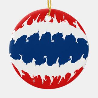 Gnarly Flagge Thailands Rundes Keramik Ornament