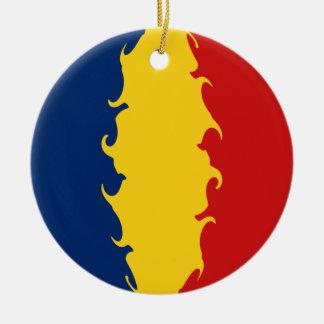 Gnarly Flagge Tschads Weihnachtsornament