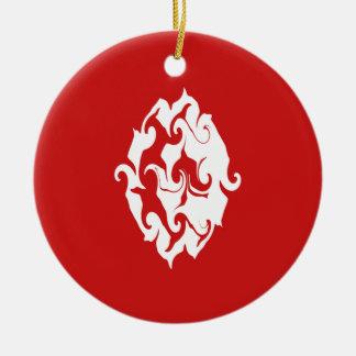 Gnarly Flagge Tunesiens Rundes Keramik Ornament