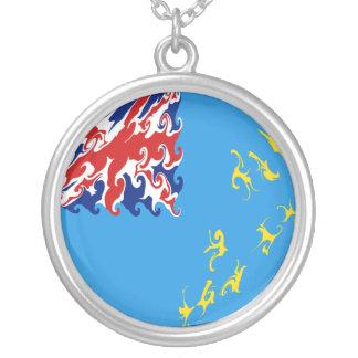Gnarly Flagge Tuvalus Halskette Mit Rundem Anhänger