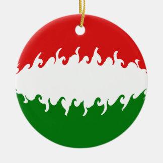 Gnarly Flagge Ungarns Rundes Keramik Ornament