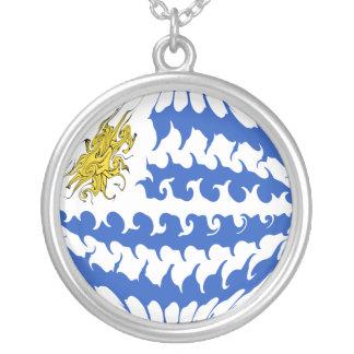 Gnarly Flagge Uruguays Halskette Mit Rundem Anhänger