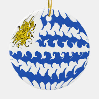 Gnarly Flagge Uruguays Ornament
