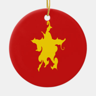 Gnarly Flagge Vietnams Weihnachtsbaum Ornamente