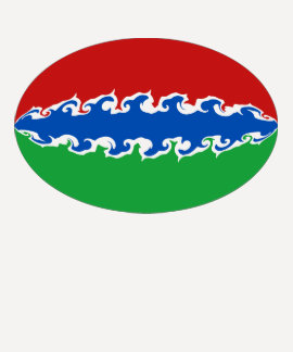 Gnarly Flaggen-T - Shirt Gambias
