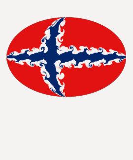 Gnarly Flaggen-T - Shirt Norwegens