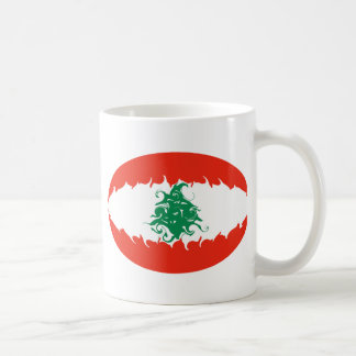 Gnarly Flaggen-Tasse des Libanons