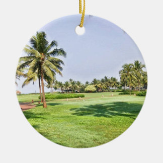 Goa Indien 2 Rundes Keramik Ornament