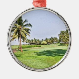 Goa Indien 2 Rundes Silberfarbenes Ornament