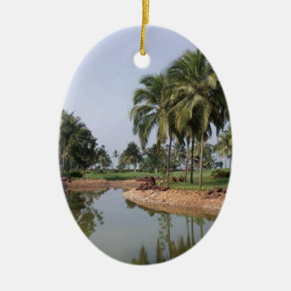 Goa Indien Ovales Keramik Ornament