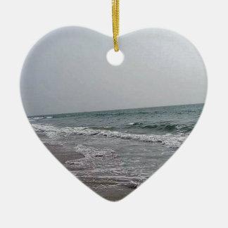 Goa Strand Indien Keramik Herz-Ornament