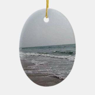 Goa Strand Indien Ovales Keramik Ornament