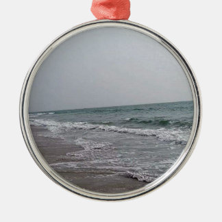 Goa Strand Indien Rundes Silberfarbenes Ornament