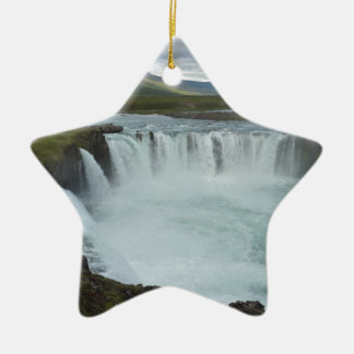 Godafoss Island Keramik Stern-Ornament