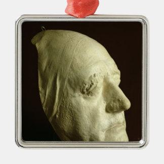 Goethes Maske, 1807 Quadratisches Silberfarbenes Ornament