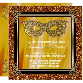 Gold16. Geburtstag-Geburtstag des Bonbon-16 der Karte