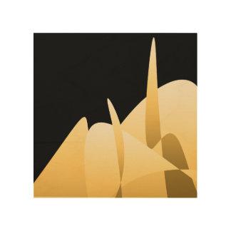 Gold abstrakt holzleinwand