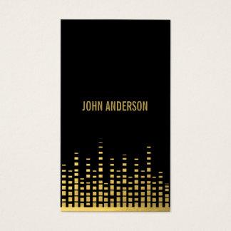 Gold-DJ-Visitenkarte Visitenkarten