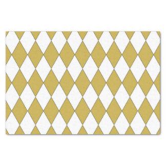 Gold farbiger Diamant-Entwurf Seidenpapier