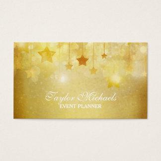 Gold hat Glitter-Ereignis-Planer in der Hauptrolle Visitenkarten