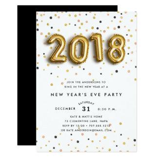 Gold steigt | Silvester-Party Einladung im Ballon