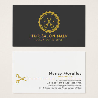 Gold tont Kreis-u. Haar-Scheren Visitenkarten