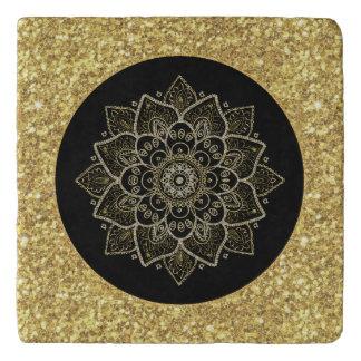 Gold tont verziertes Madala Töpfeuntersetzer