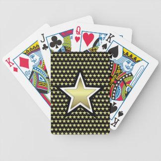 Gold-u. Schwarz-Stern-Fahrrad-Spielkarten Bicycle Spielkarten