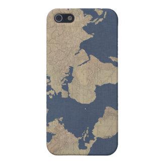Gold und blaue Weltkarte Schutzhülle Fürs iPhone 5