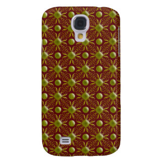 Gold und kastanienbrauner Damast iPhone 3G Kasten Galaxy S4 Hülle