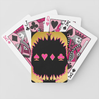Gold und rosa Haifisch-Poker-Karten Bicycle Spielkarten